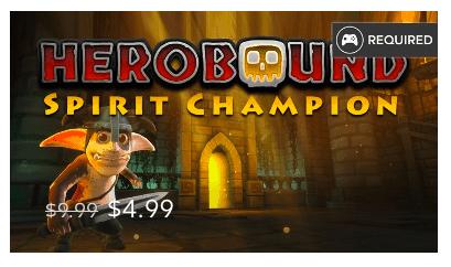 Rea på Gear VR-spel: Herobound: Spirit Champion
