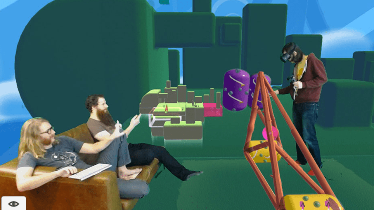 Fantastic Contraption Mixed Reality med och utan greenscreen