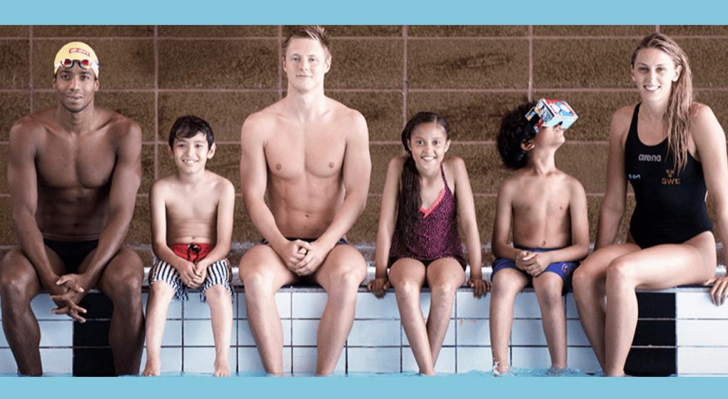 Barn lär sig simma med VR