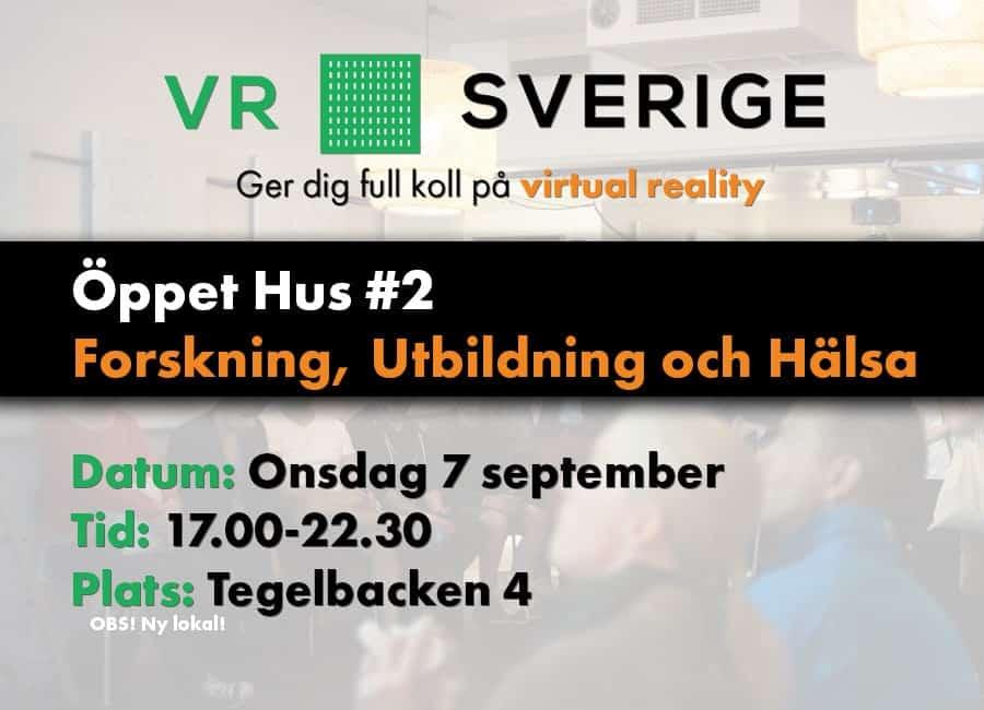 VR Öppet Hus - Forskning, utbildning och hälsa - 7/9 kl 17-22