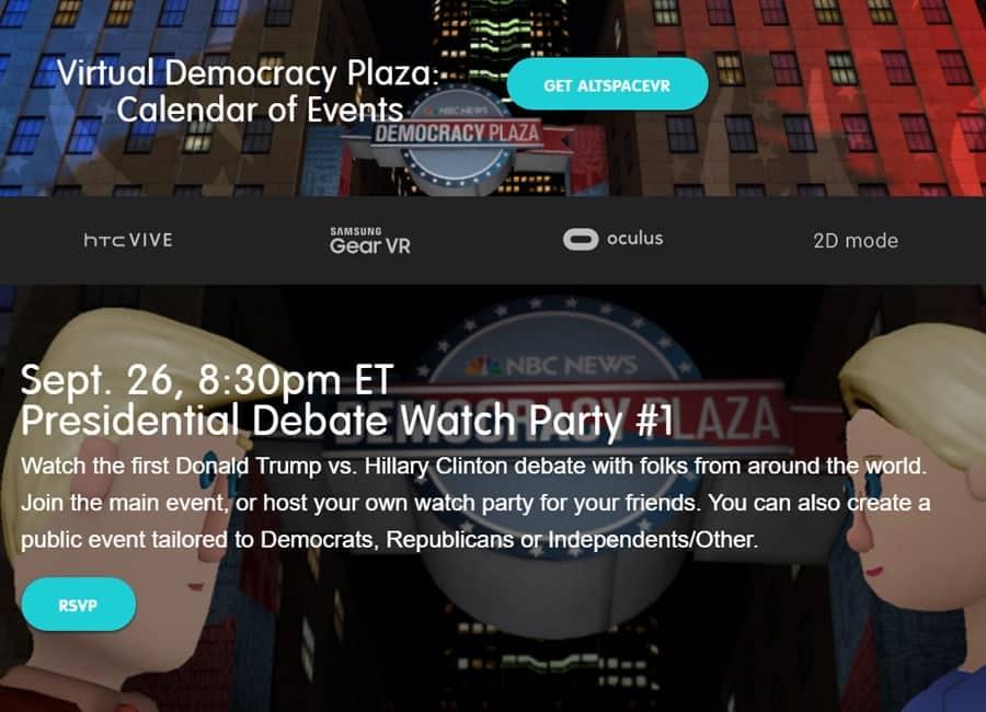 Presidentvalsdebatt i VR