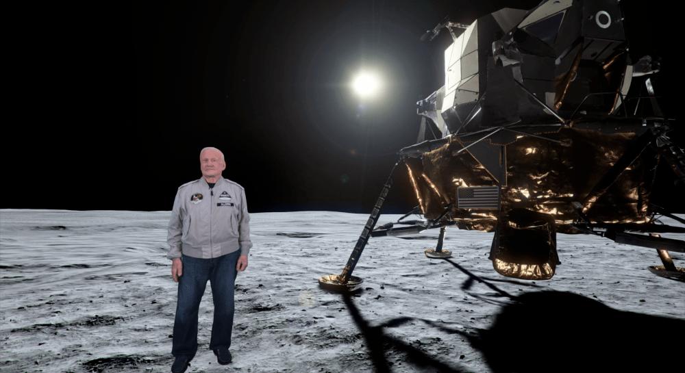 Buzz Aldrin skapa holografiska meddelanden till astronauter på väg till Mars