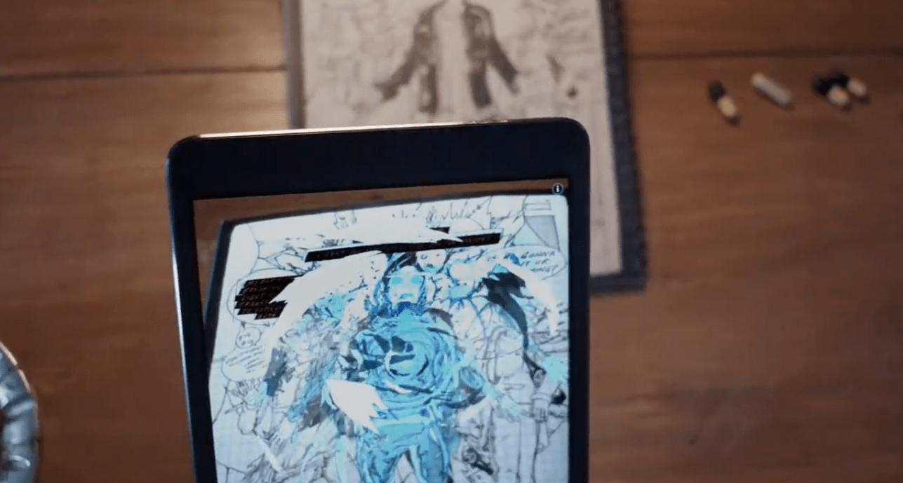 AR tillsammans med serietidningar och graphic novels