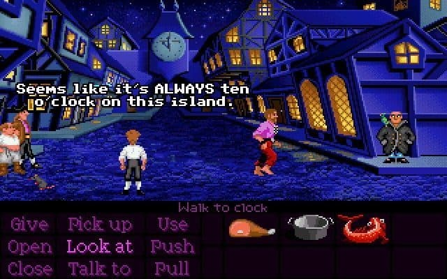The Secret of Monkey Island från Lucasfilm Games 1990. Spelet fanns för Amiga, Atari, PC och Sega Mega