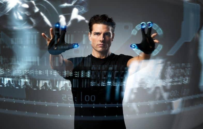 Tom Cruise, Minority Report. AR-gränssnitt från framtiden