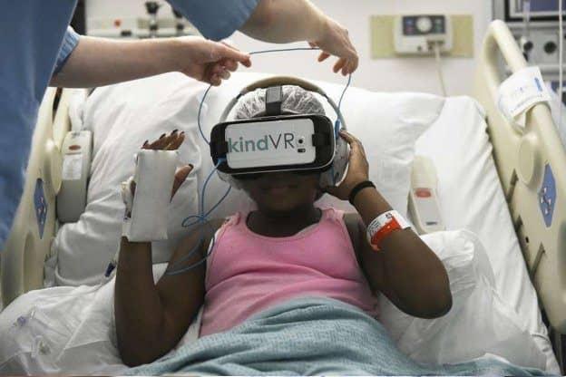 VR för smärtlindring på barnsjukhus