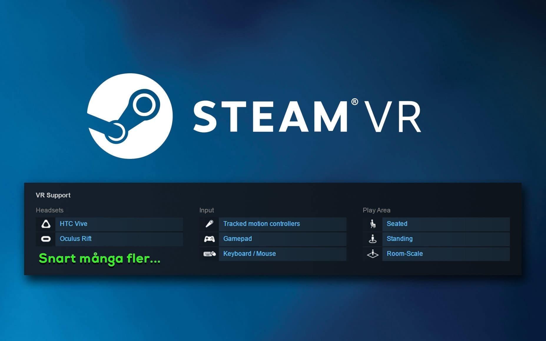 Fler headsets på väg till SteamVR