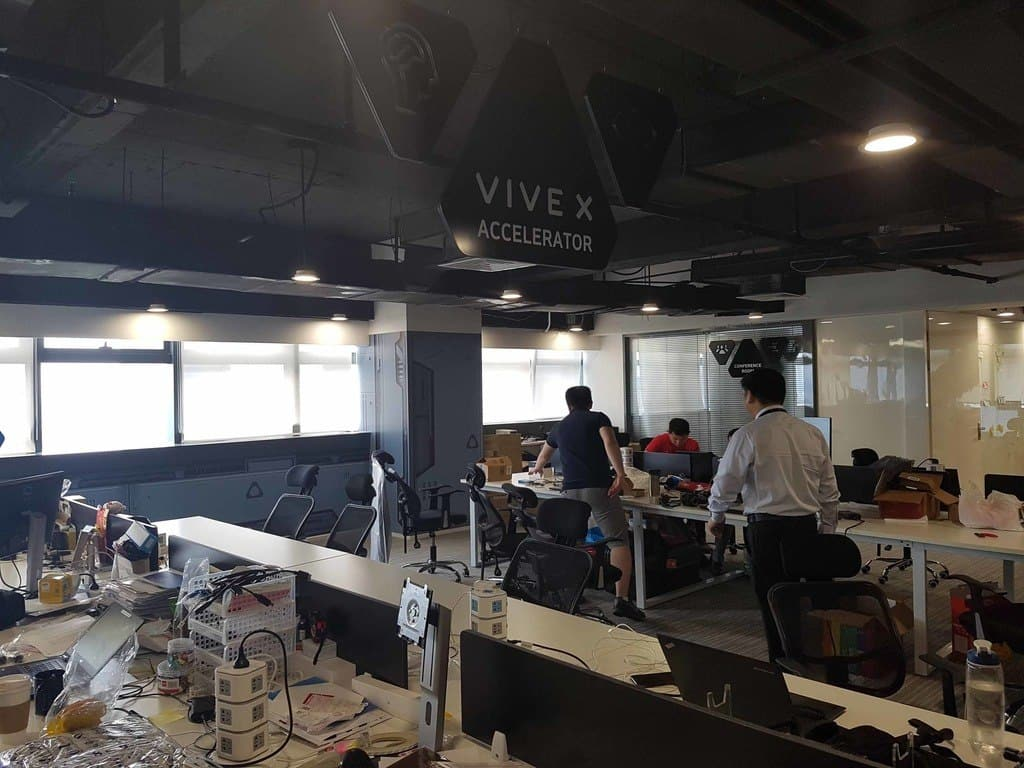 En snatttitt in på ett av Vive X kontoren i Shenzhen - Kina