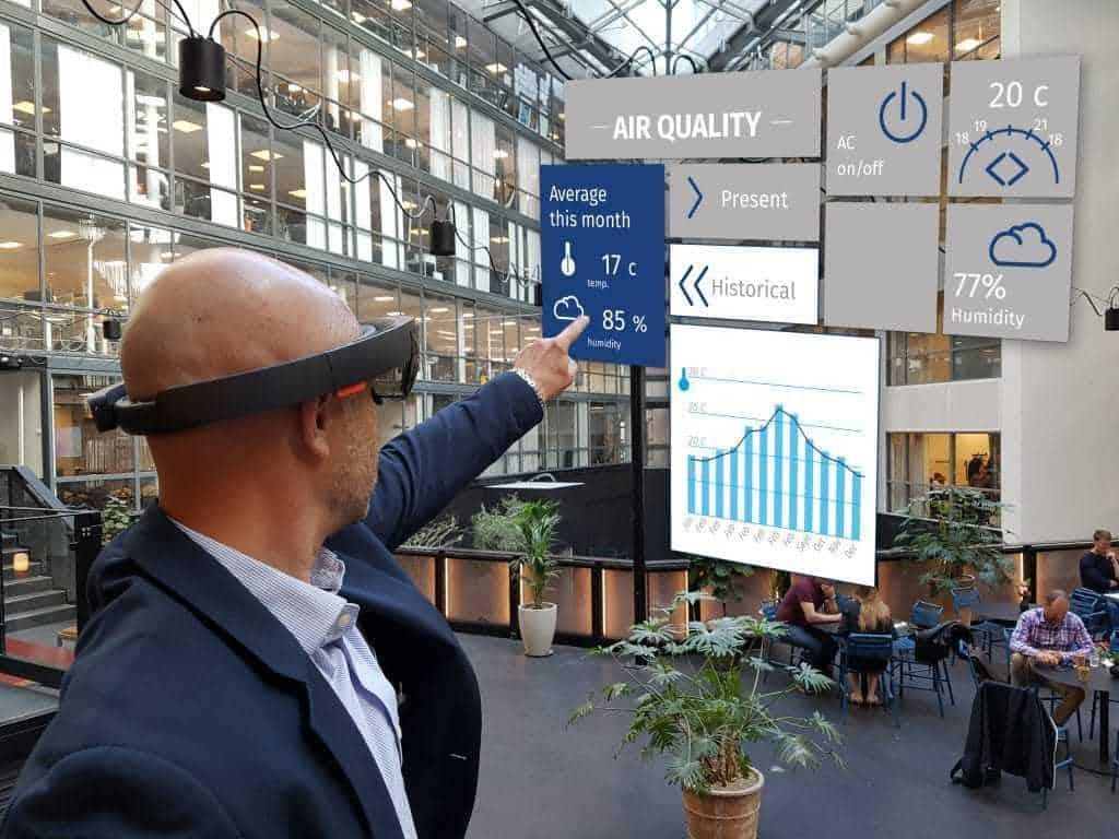 Enklare övervakning av smarta byggnader med AR/VR och Hololens