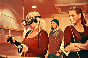 VR-event med kvinnor