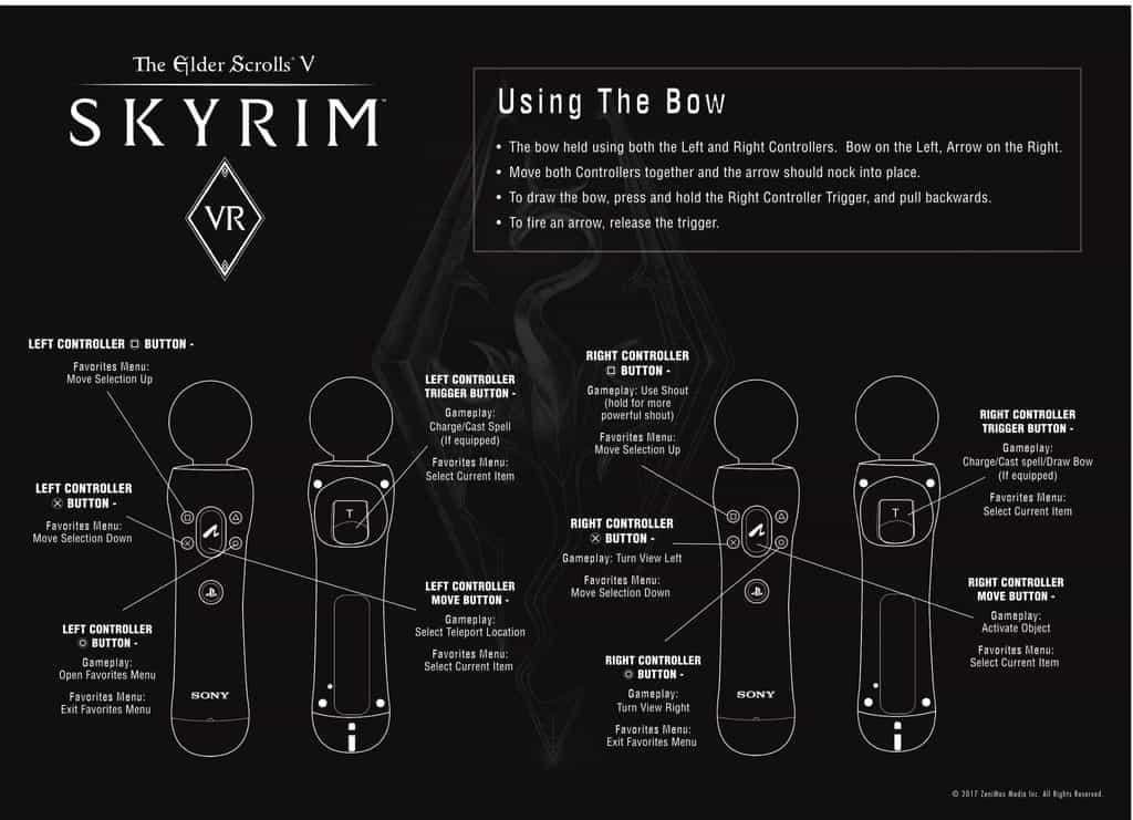skyrim VR PS Move controller schema