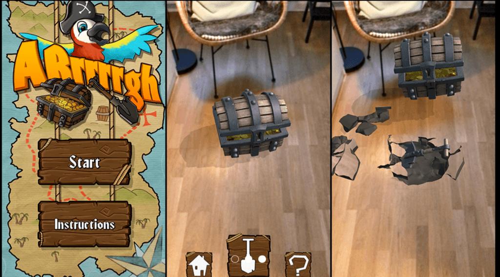 ARrrrrgh AR-spel skattjakt Warpin