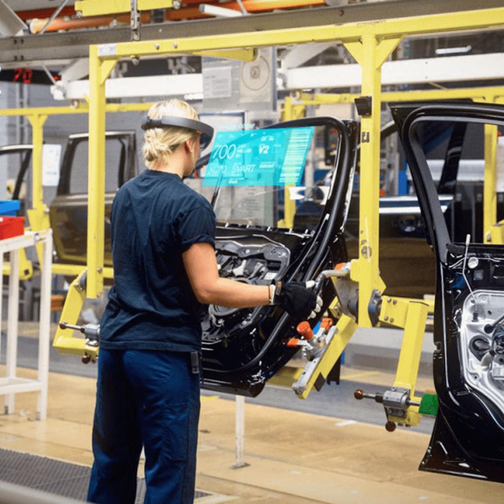 HoloLens Mixed Reality på fabriksgolvet hos Volvo