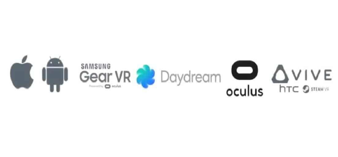 VR-plattformar steam oculus home daydream apple google