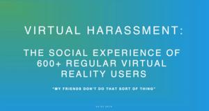 VR sexuella trakasserier undersökning