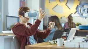 VR i klassrummet appar