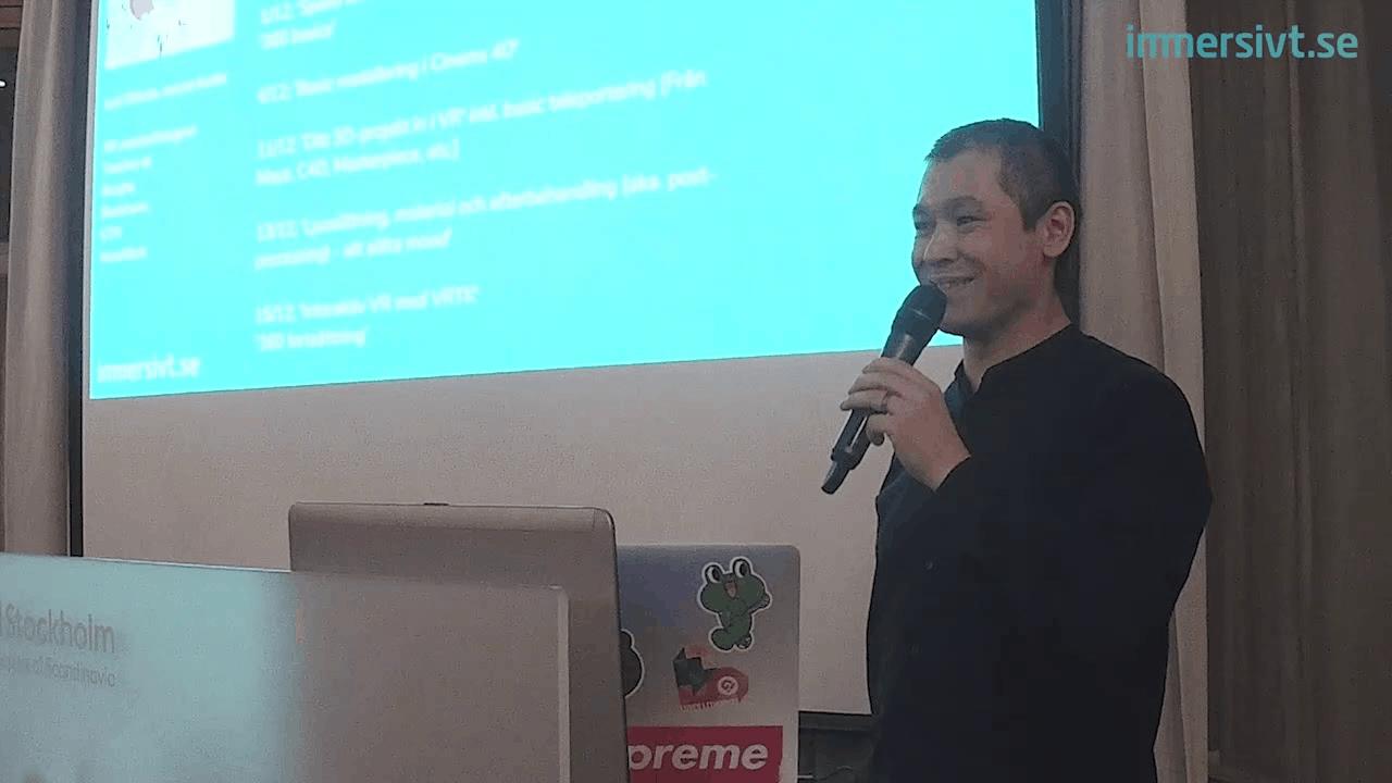 Niclas Johansson på Immersive Open House, ett viktigt event för VR Stockholm
