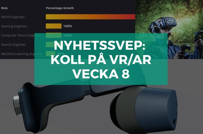 Nyhetssvep v.8: VR för NASA-forskning, jobbtillväxt för VR/AR, blinda får hjälp av AR + mer