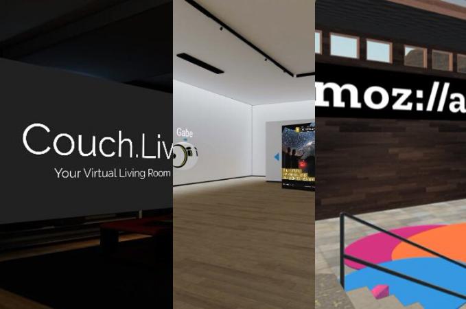 Tre webb-baserade appar för möten och umgänge i VR